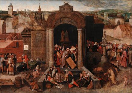 Bruegel the Elder, Pieter: Christ Driving the Traders from the Temple. Fine Art Print/Poster. Sizes: A4/A3/A2/A1 (002003)